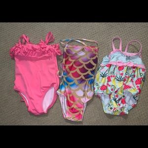 3 baby girl swimsuits